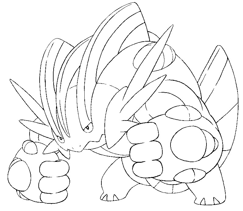 coloriage pokemon xy mega evolution