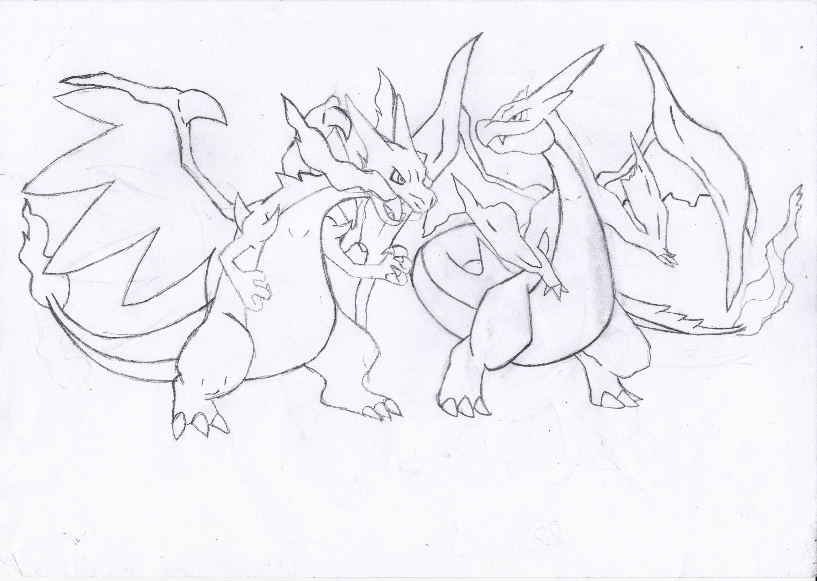 coloriage à dessiner pokemon legendaire mega evolution