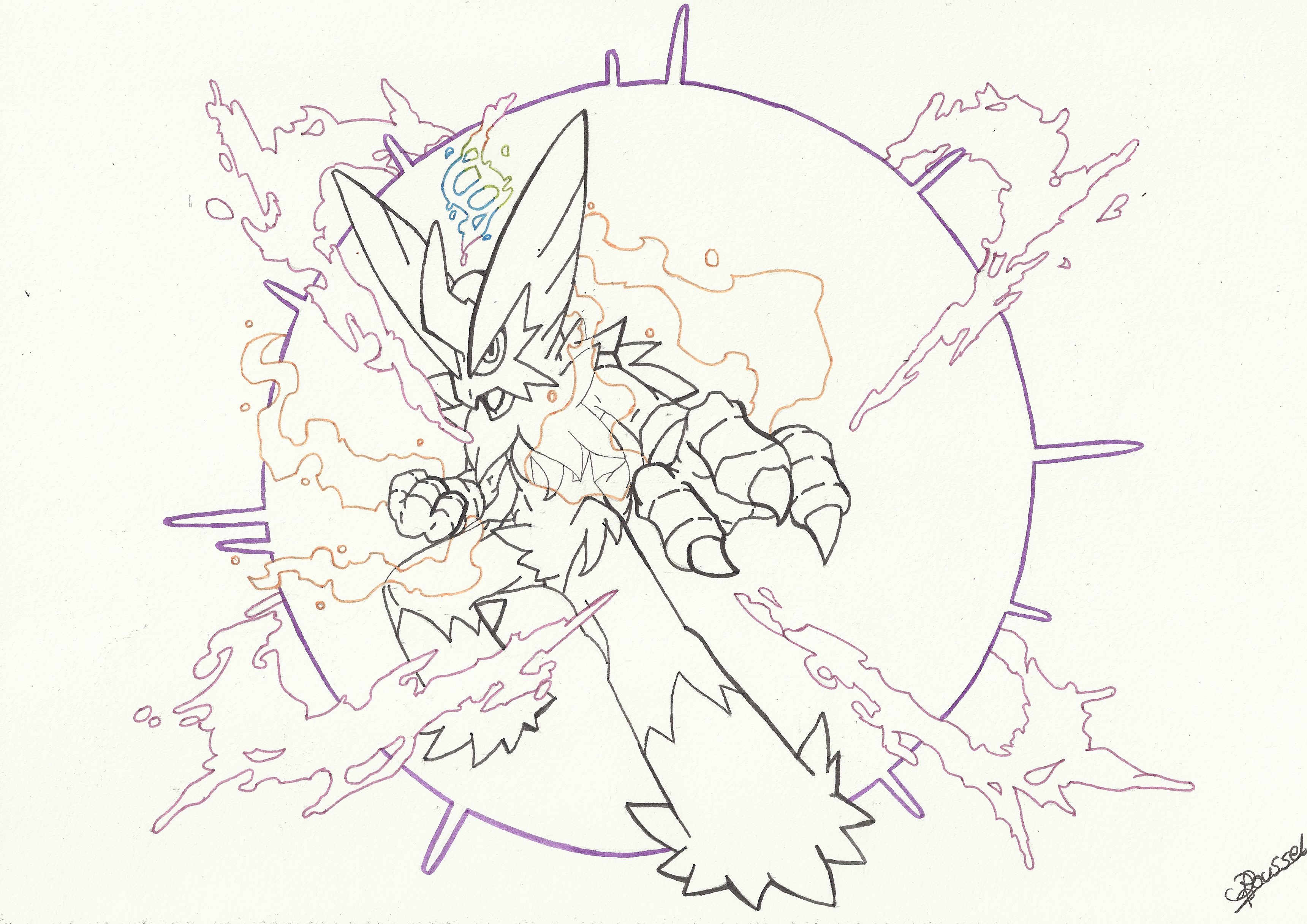 coloriage pokemon mega evolution
