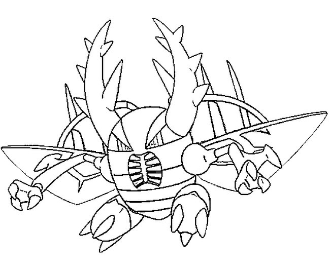coloriage de pokemon mega evolution