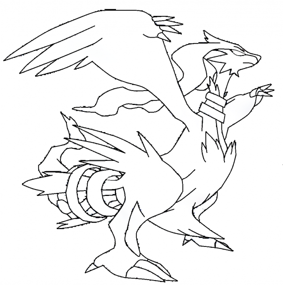 20 dessins de coloriage pokemon noir et blanc imprimer - Pokemon legendaire blanc 2 ...
