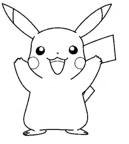 dessin a imprimer pikachu