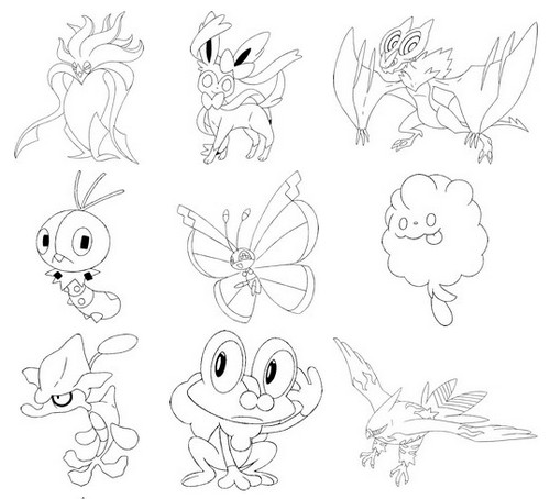 19 dessins de coloriage pokemon xy imprimer - Coloriage de pokemon x y ...