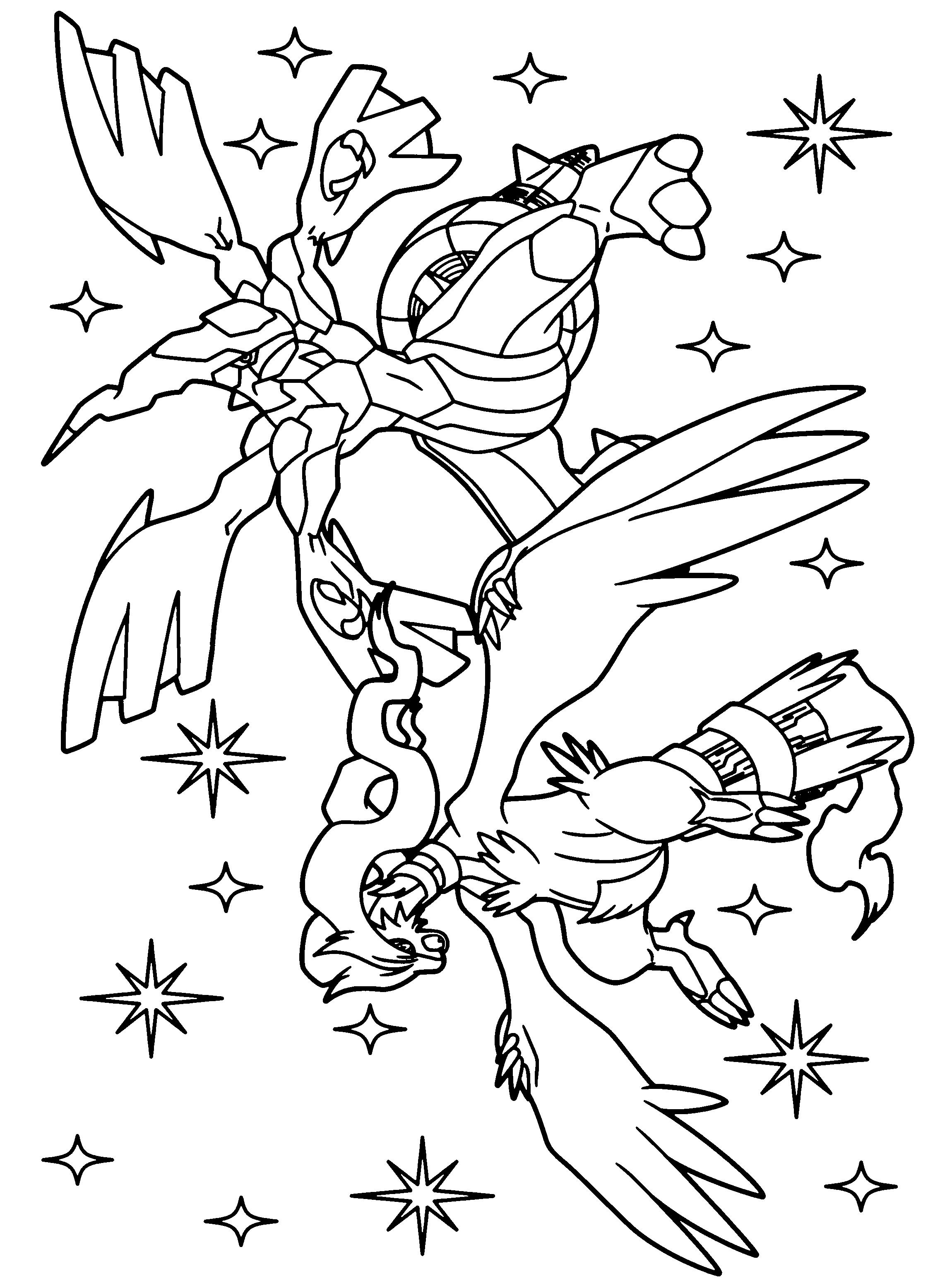 20 dessins de coloriage pokemon zekrom imprimer - Dessin pokemon ...