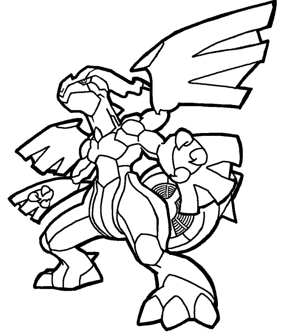 coloring pages pokemon zekrom x - photo#1