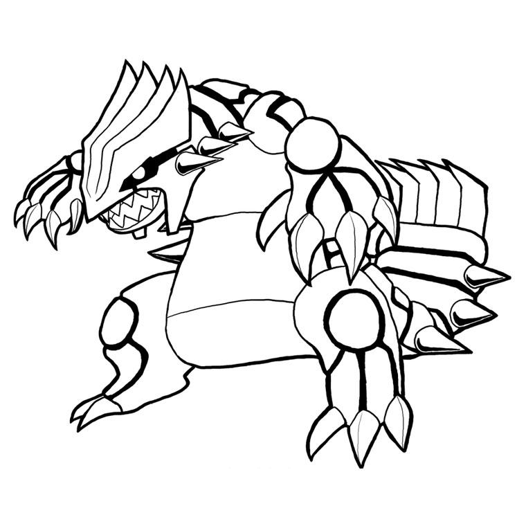 coloriage pokemon mega rayquaza