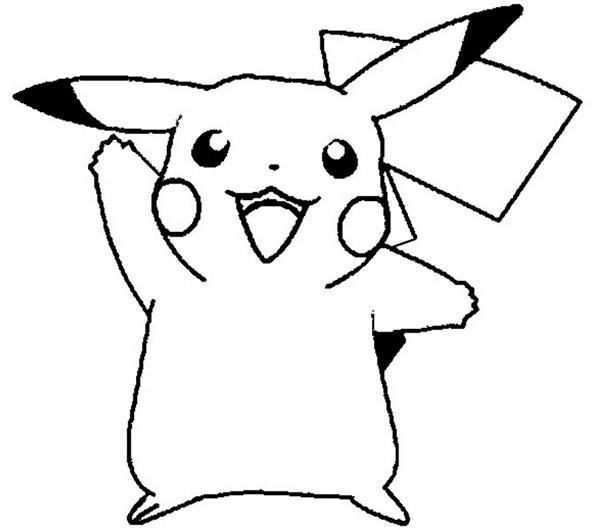 coloriage pokemon facile