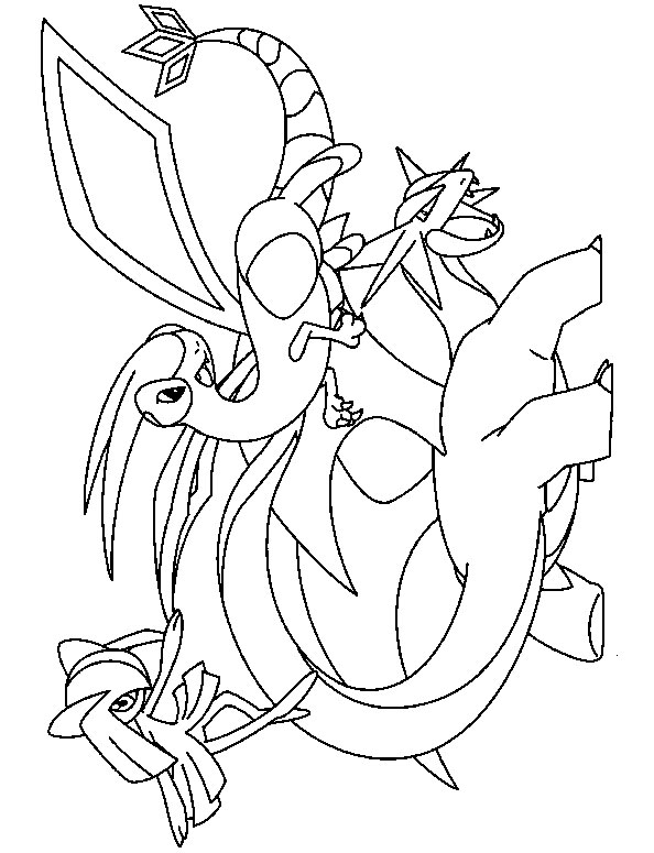coloriage pokemon hugo l'escargot