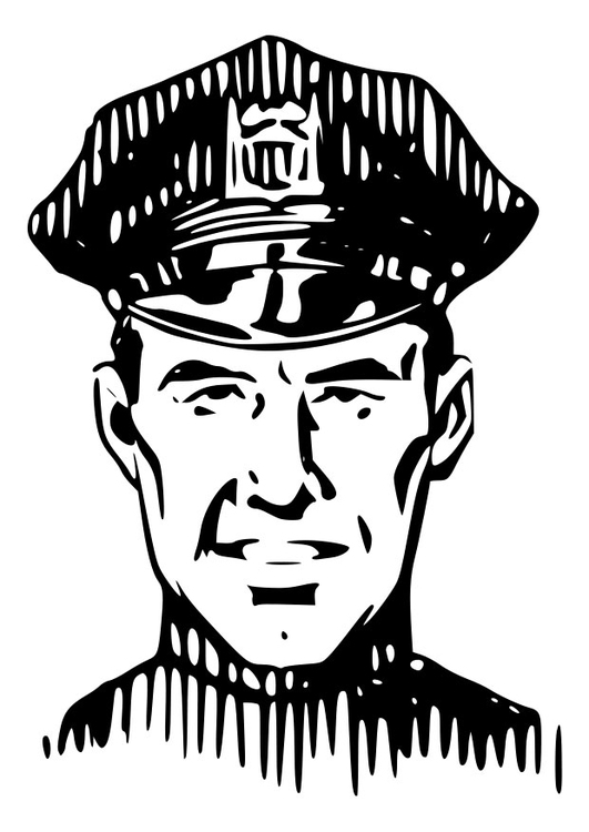 coloriage à dessiner lego police gratuit