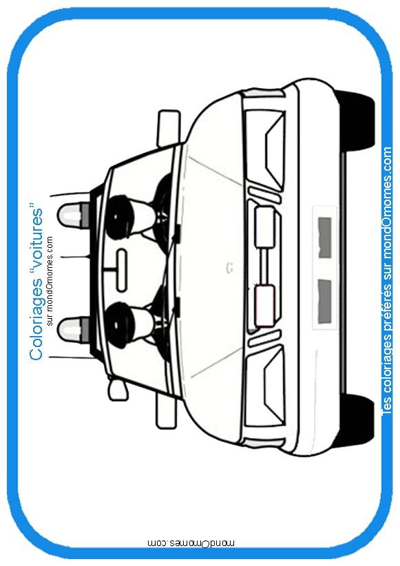dessin à colorier voiture police gratuit