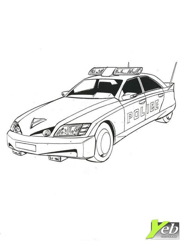 dessin 4x4 police