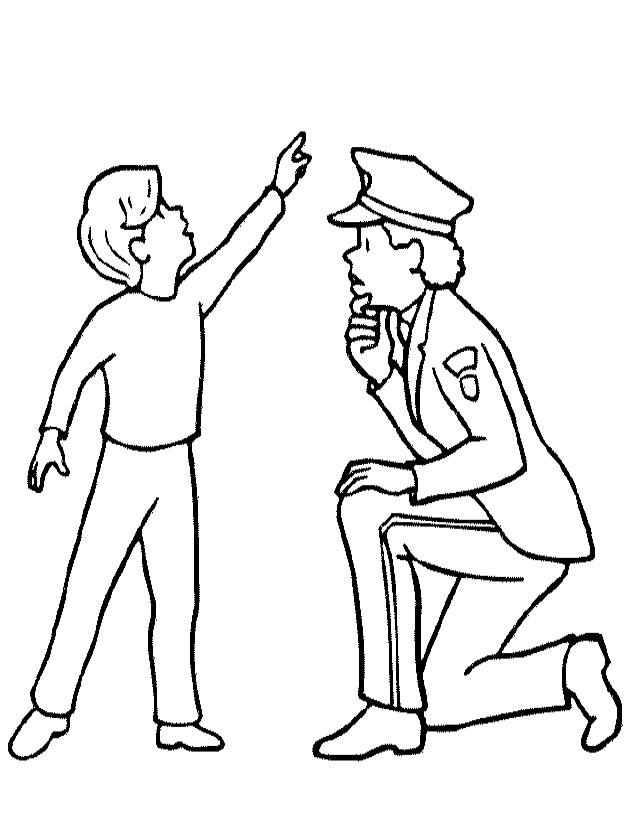 Милиционеры раскраска