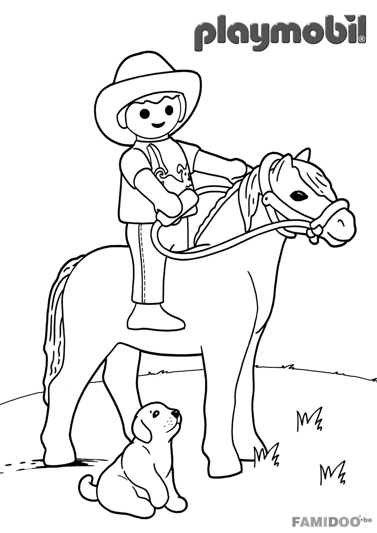 10 dessins de coloriage Policier Playmobil à imprimer