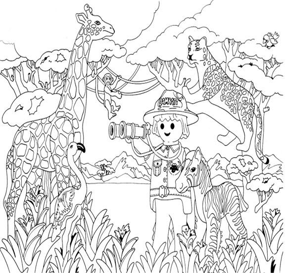 10 dessins de coloriage policier playmobil imprimer - Coloriage de zoo ...