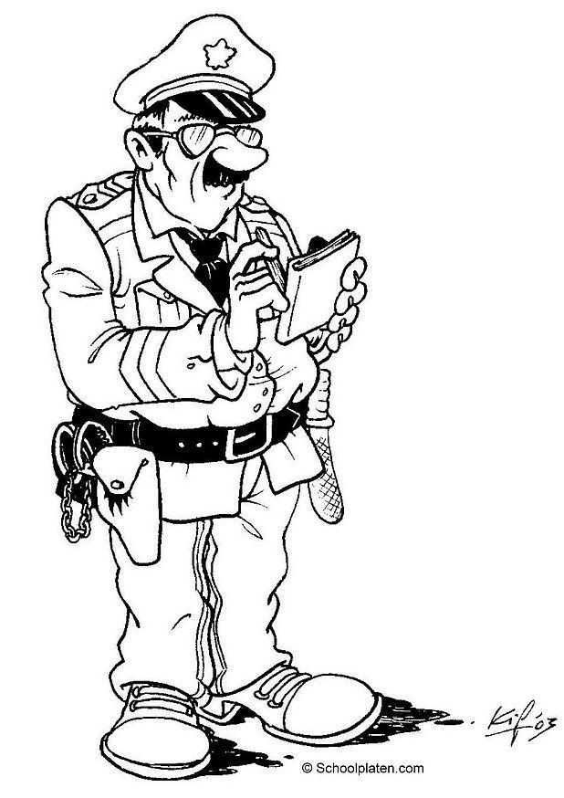 dessin police municipale