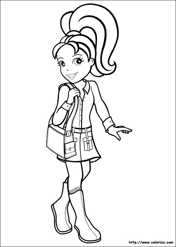 coloriage polly pocket en ligne