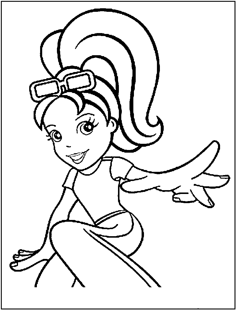 dessin polly pocket princesse