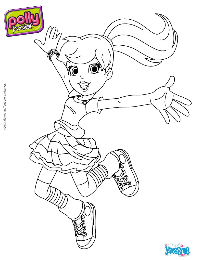 52 dessins de coloriage polly pocket imprimer - Coloriage polly pocket ...