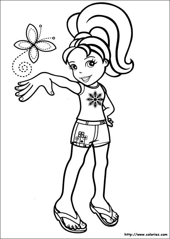 dessin à colorier magique polly pocket