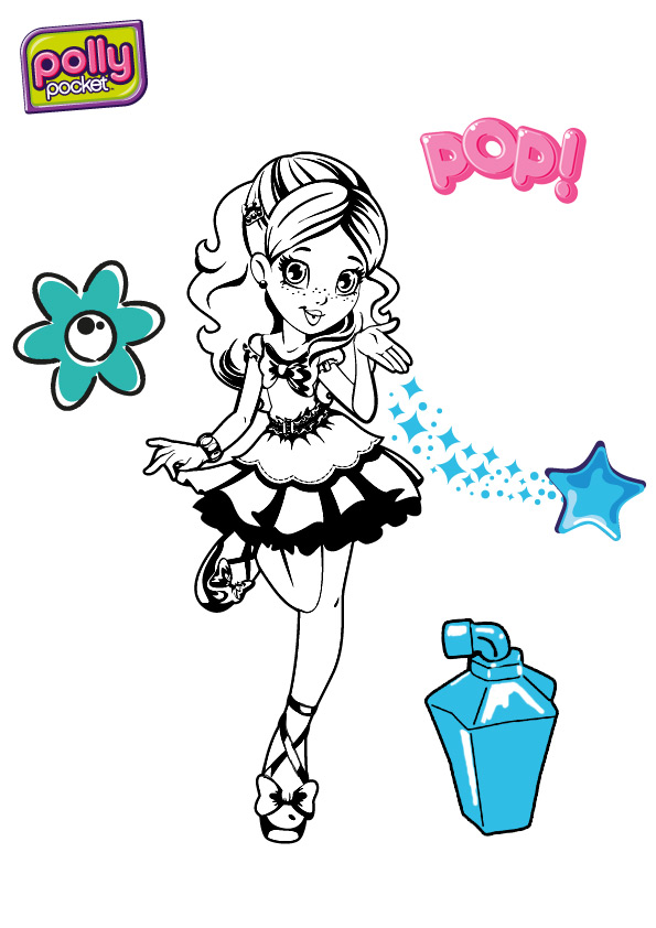 imprimer coloriage à dessiner polly pocket