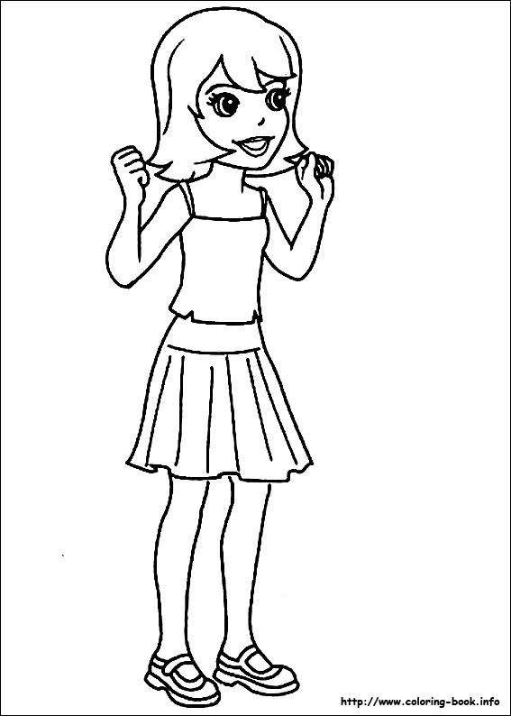 coloriage à dessiner polly pocket en ligne gratuit