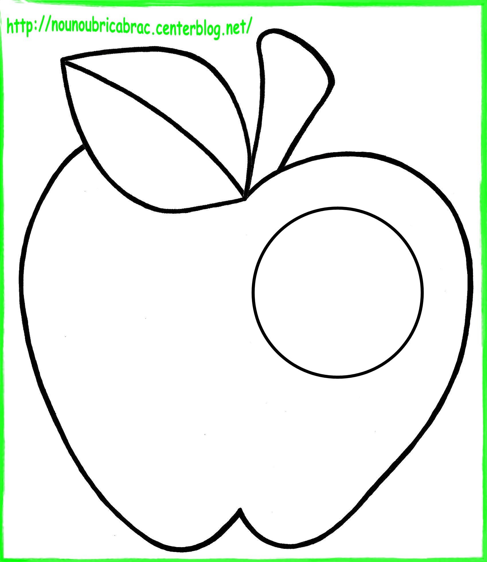 Dessin pomme d 39 automne - Dessin pomme a colorier ...