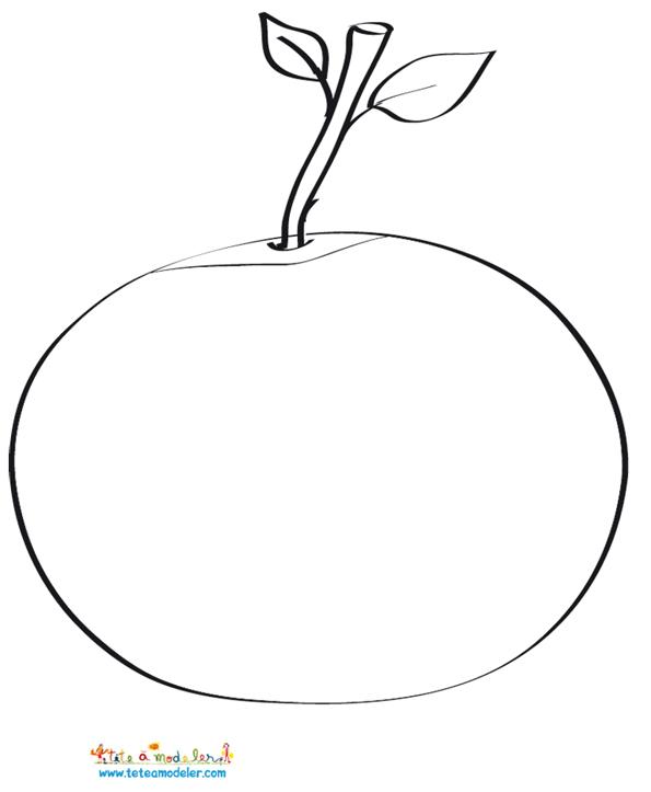 coloriage à dessiner compote pommes