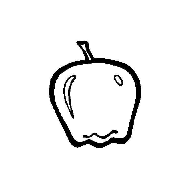 dessin à colorier de pomme gratuit