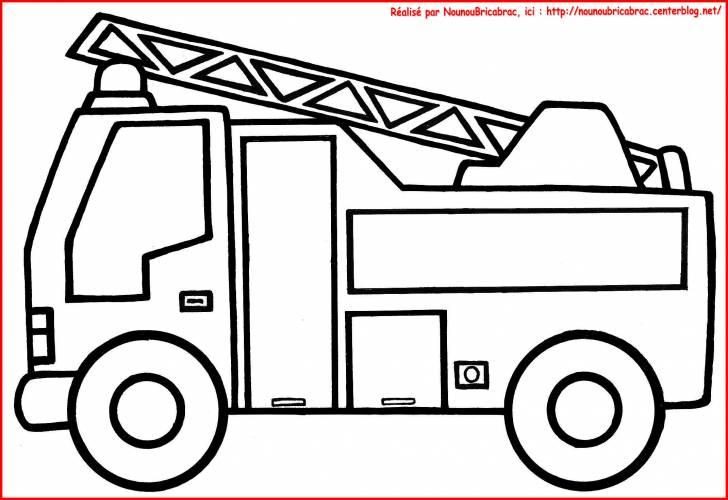 Camion De Pompier 9 Transport Coloriages Imprimer Dessin Camion