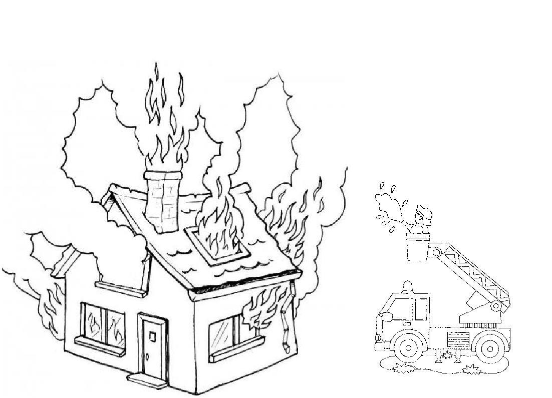 13 dessins de coloriage pompier feu imprimer for Au feu les pompiers la maison