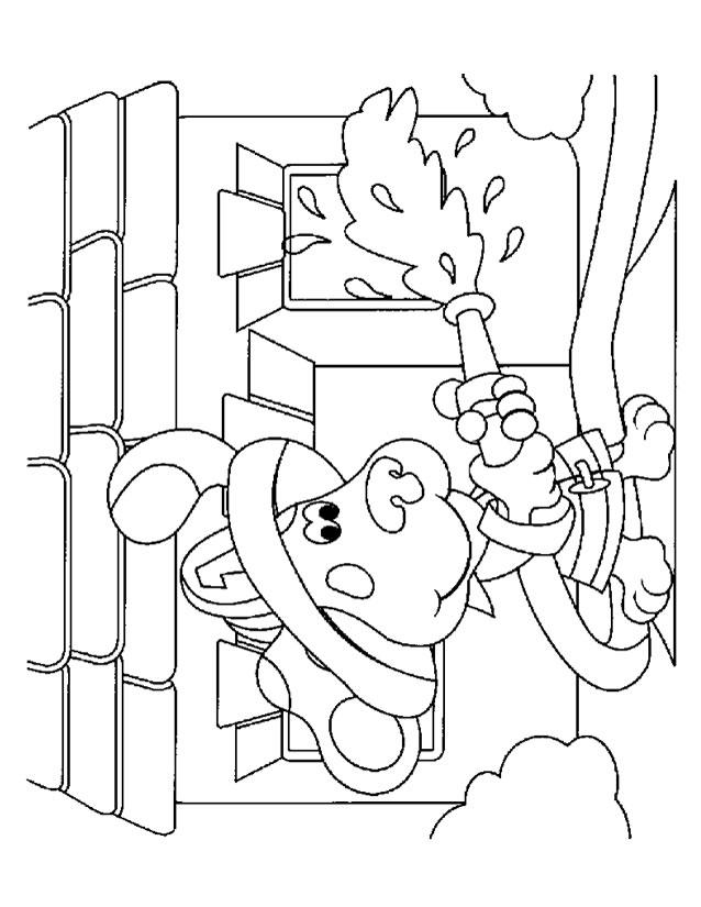 dessin à colorier pompier à imprimer