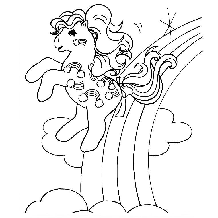 10 dessins de coloriage poney arc en ciel imprimer - Coloriage ciel ...