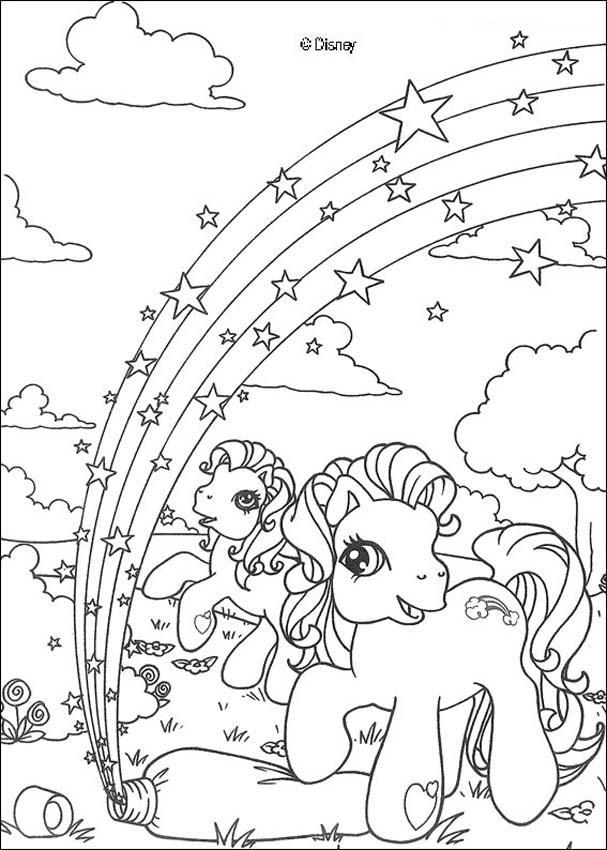 10 dessins de coloriage poney arc en ciel imprimer - Dessin arc en ciel ...