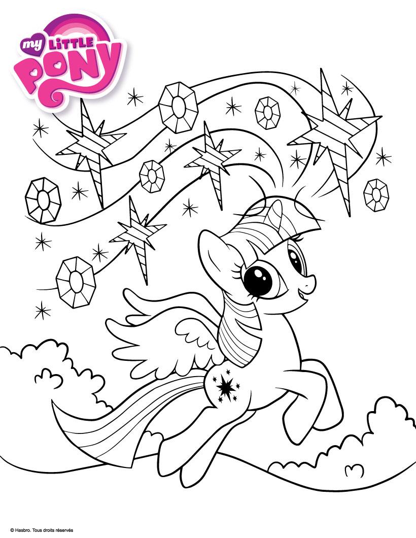 8 dessins de coloriage poney ville imprimer - Coloriage princesse celestia ...