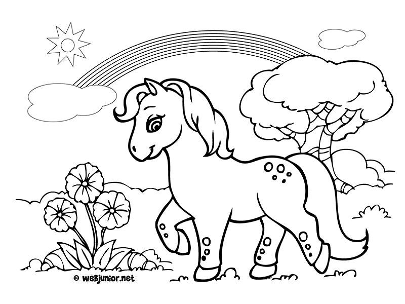 dessin de poney