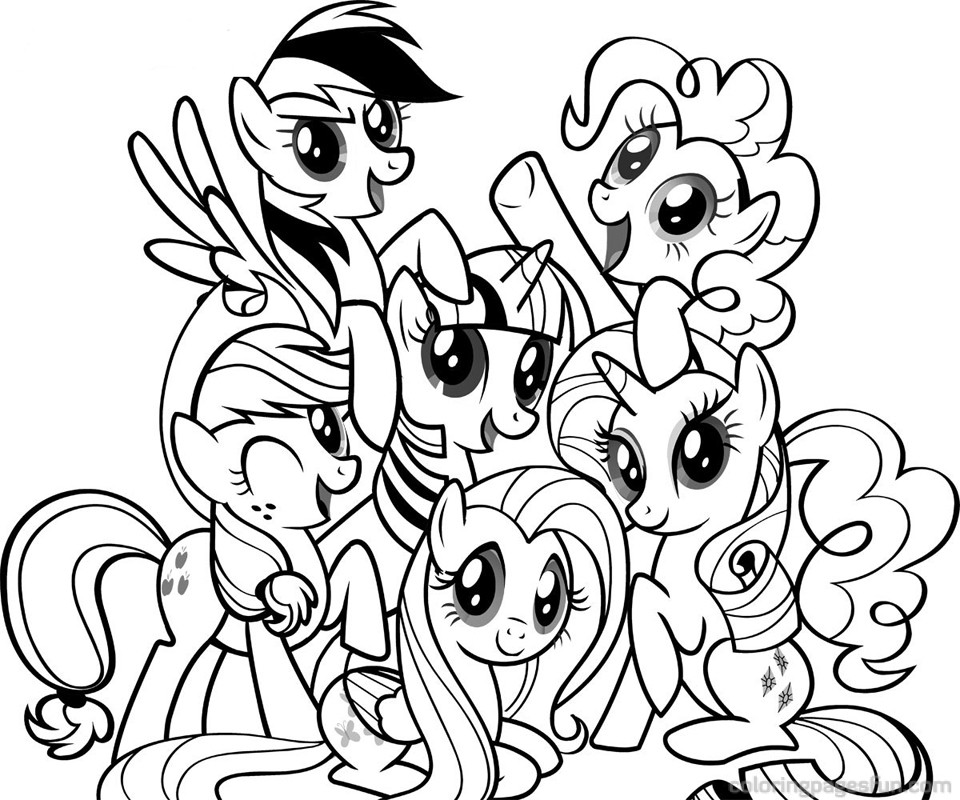Dessin poney volant - Coloriage poney ...