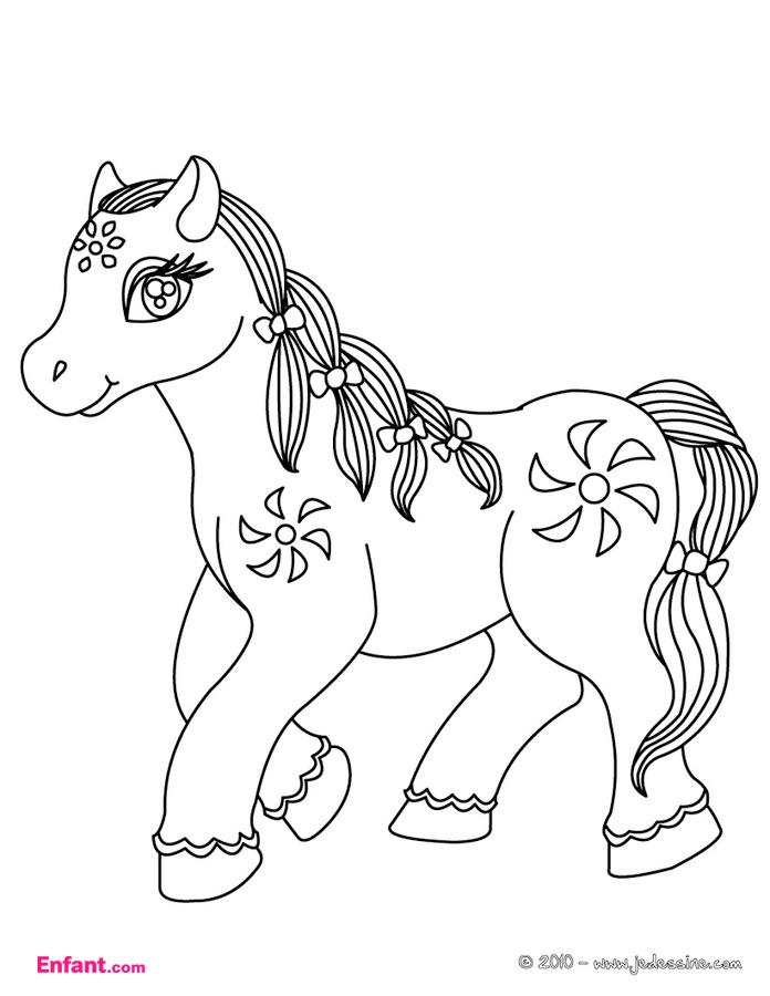 Dessin colorier a imprimer poney gratuit - Dessin anime avec des poneys ...