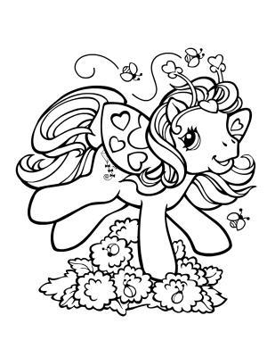 Dessin poney avec selle - Coloriage poney en ligne ...