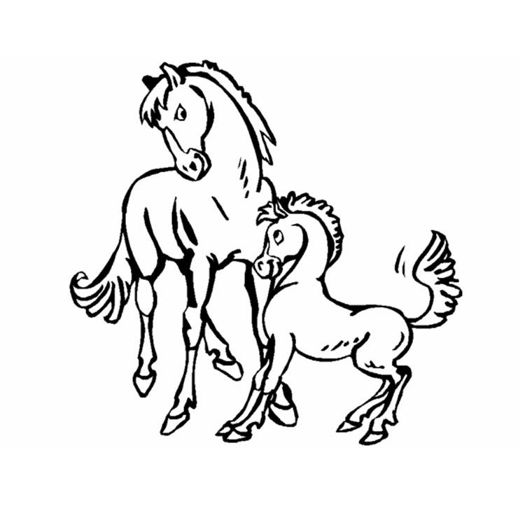 coloriage à dessiner poney avec selle