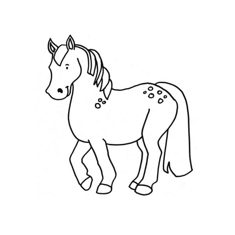 dessin petit poney à imprimer