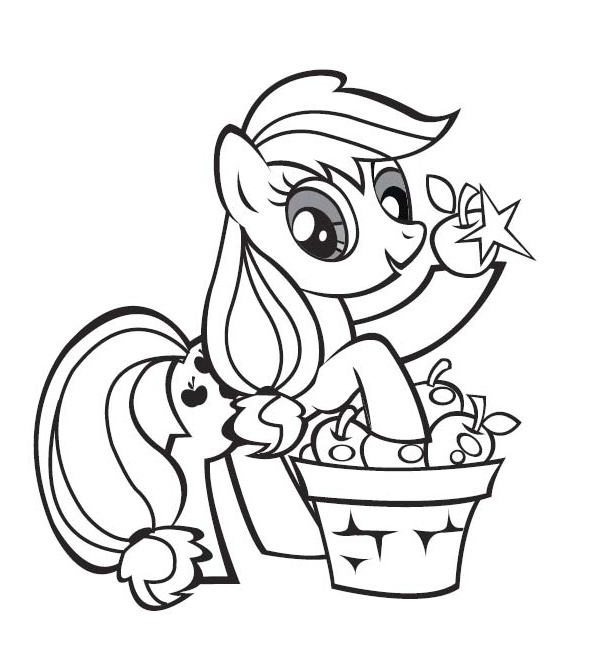 Dessin poney imprimer - Coloriage poney ...