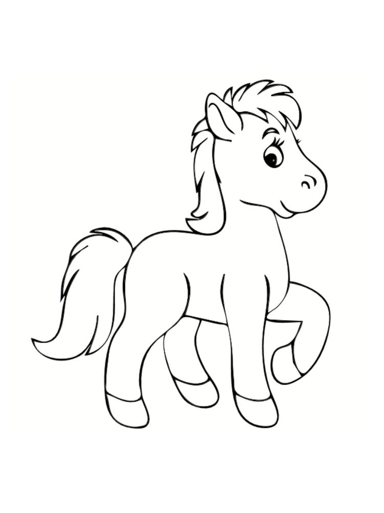 dessin de poney avec des ailes