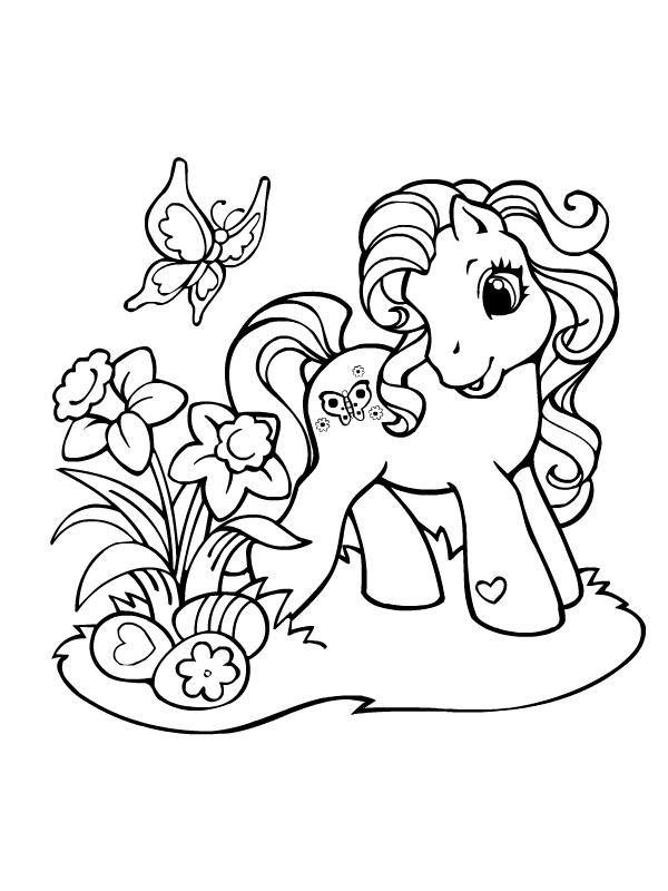 coloriage à dessiner poney magique