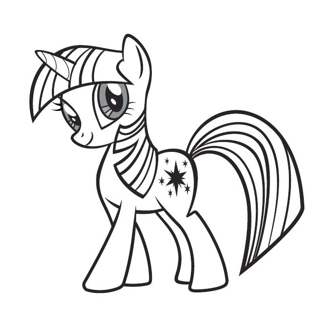 coloriage poney