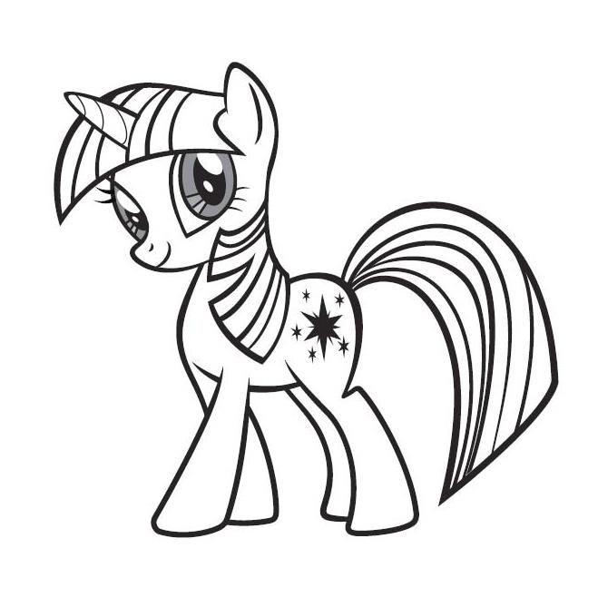 dessin magique poney a imprimer