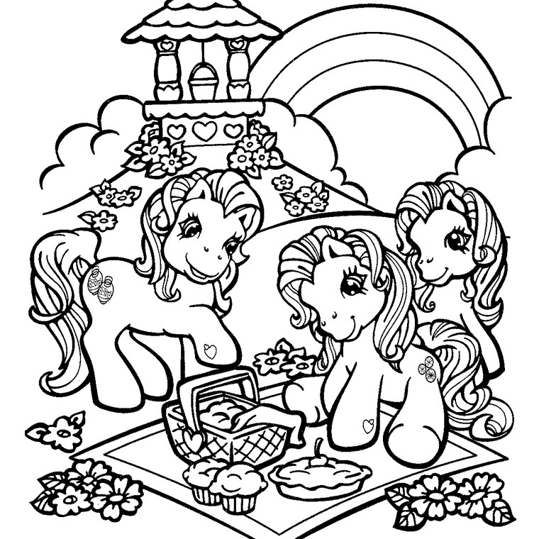 coloriage à dessiner petit poney princesse celestia