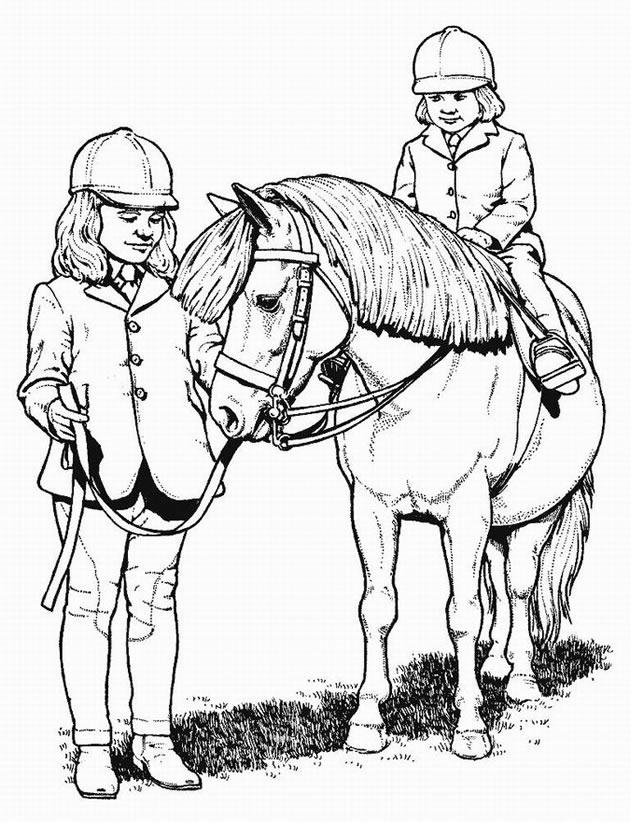 dessin à imprimer poney volant