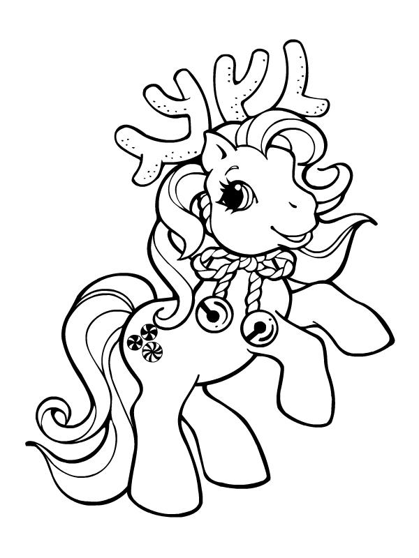 dessin à colorier poney hugo l'escargot
