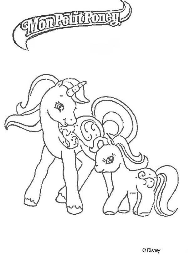 coloriage à imprimer little pony