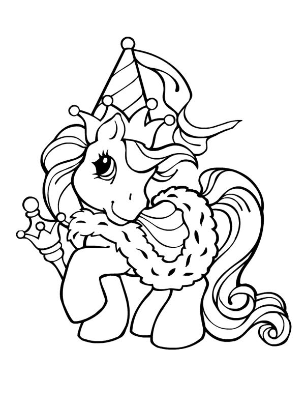 coloriage poney sur ordinateur